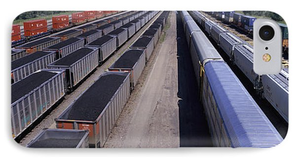 Panoramic View Of Freight Cars At Union IPhone Case