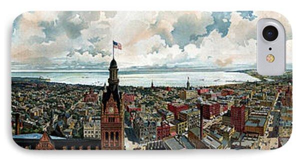 Panoramic View Of Milwaukee Wisconsin IPhone Case