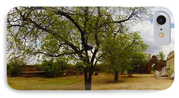 Panoramic View Of Small Monastery Compound Near West Pwazaw Village Bagan Burma IPhone Case by Ralph A  Ledergerber-Photography