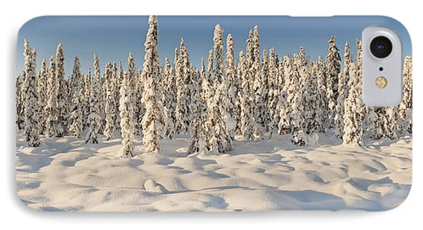 Panoramic View Of Snow-covered Spruce Phone Case by Ray Bulson