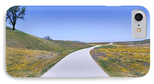 Panoramic View Of Spring Flowers, Tree IPhone Case by Panoramic Images