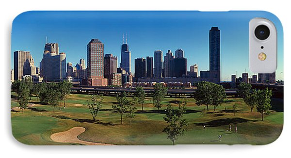 Panoramic View Of The City Skyline IPhone Case
