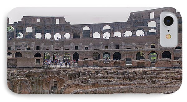 Panoramic View Of The Colosseum IPhone Case by Allan Levin