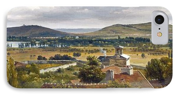 panoramic view of the ile de france painting by theodore rousseau. Black Bedroom Furniture Sets. Home Design Ideas