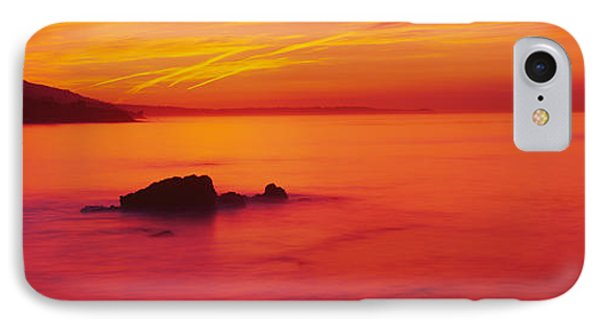Panoramic View Of The Sea At Dusk, Leo IPhone Case by Panoramic Images