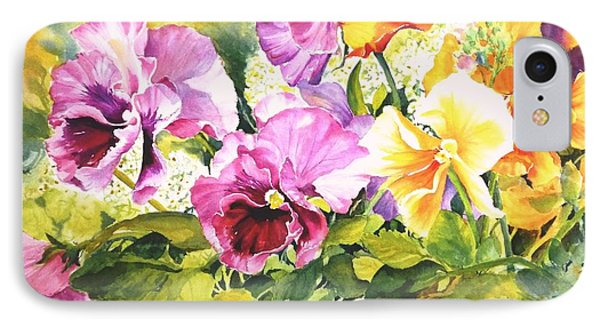 Pansies Delight #3 IPhone Case by Betty M M   Wong