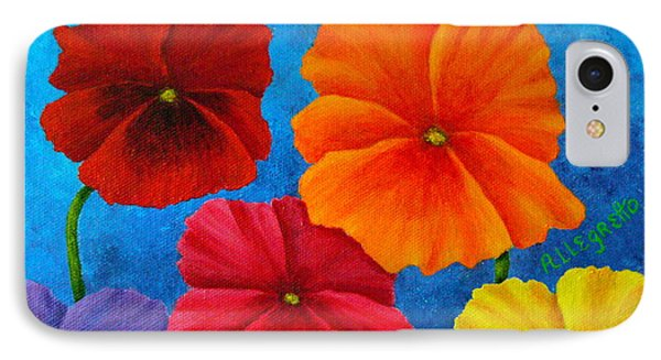 Pansies For Rosalina Phone Case by Pamela Allegretto