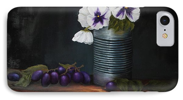 Pansies In Tin Can IPhone Case