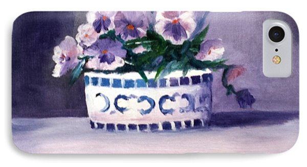 Pansies IPhone Case by Larry Hamilton