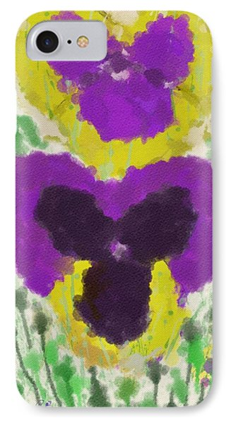 Pansies IPhone Case by Mary M Collins