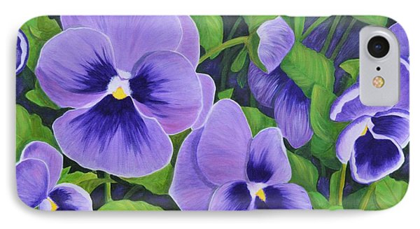 Pansies Schmanzies IPhone Case