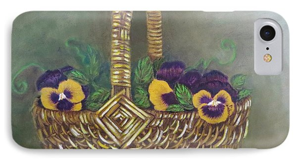 Pansy Basket Sherry Nelson Study IPhone Case