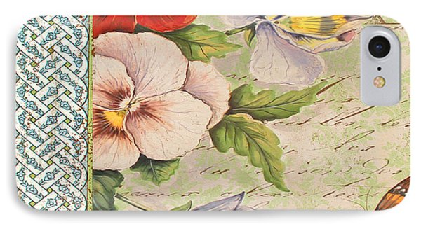 Pansy Garden-a Phone Case by Jean Plout