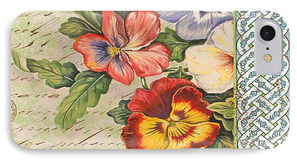 Pansy Garden-b Phone Case by Jean Plout