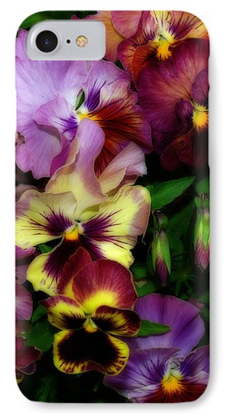 Pansy Mania IPhone Case by Diane Schuster