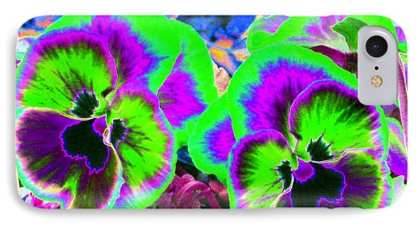 Pansy Power 60 IPhone Case by Pamela Critchlow