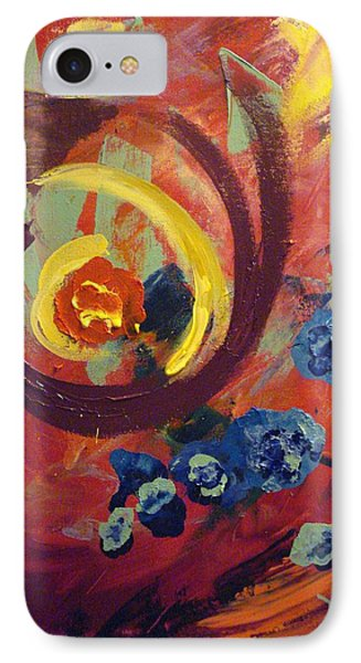 IPhone Case featuring the painting Pansymania by Donna Tuten