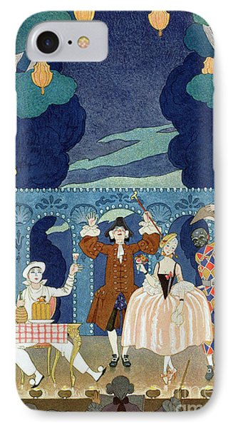 Pantomime Stage IPhone Case by Georges Barbier