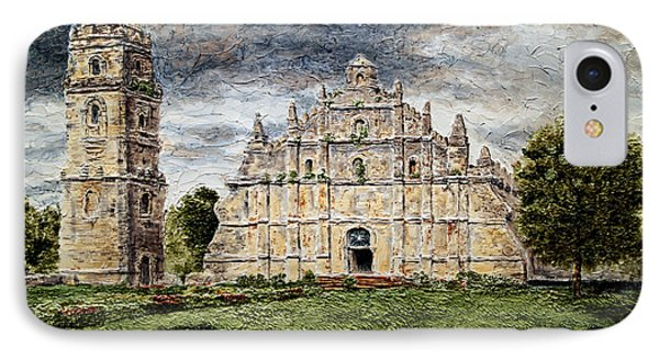 Paoay Church Phone Case by Joey Agbayani
