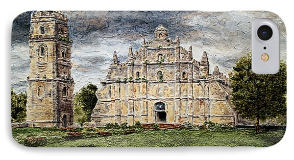 Paoay Church IPhone Case by Joey Agbayani