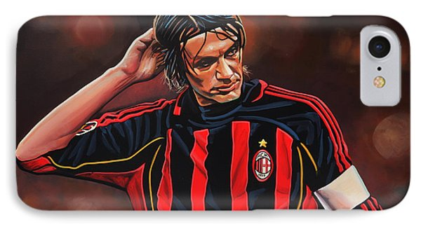 Paolo Maldini IPhone Case by Paul Meijering
