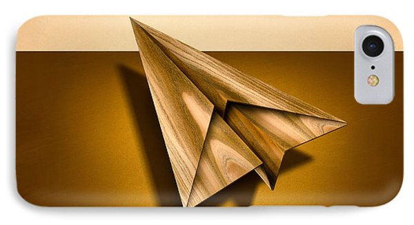 Paper Airplanes Of Wood 1 IPhone Case by YoPedro