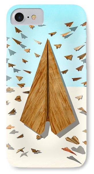 Paper Airplanes Of Wood 10 Phone Case by YoPedro