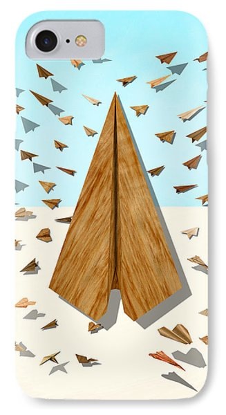 Paper Airplanes Of Wood 10 IPhone Case by YoPedro