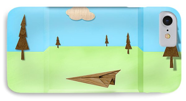 Paper Airplanes Of Wood 11 IPhone Case by YoPedro