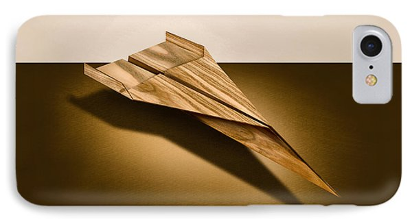 Paper Airplanes Of Wood 3 IPhone Case by YoPedro