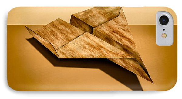 Paper Airplanes Of Wood 5 IPhone Case by YoPedro