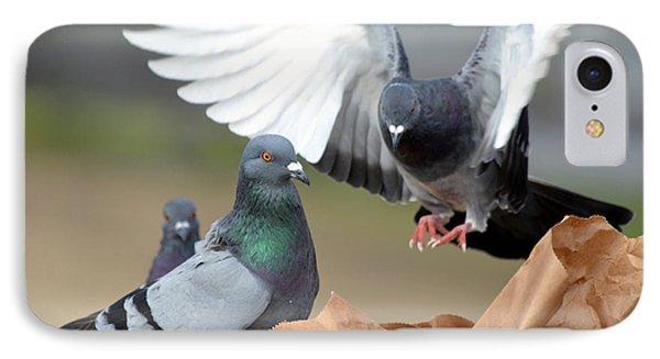 Paper Bag Pigeons 2 Phone Case by Fraida Gutovich