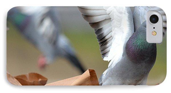 Paper Bag Pigeons Phone Case by Fraida Gutovich