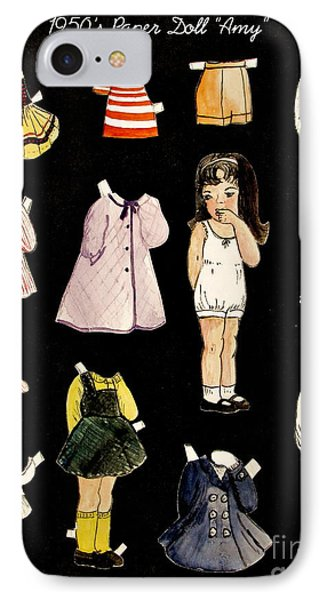 Paper Doll Amy IPhone Case by Marilyn Smith
