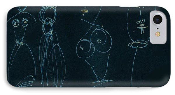 Paper Graffiti.  Allure And Temptation Wire On Black Phone Case by Cathy Peterson