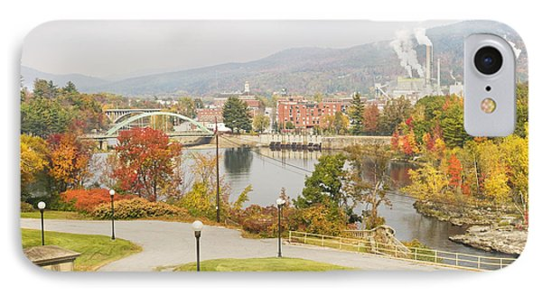 Paper Mill And Fall Colors In Rumford Maine IPhone Case by Keith Webber Jr