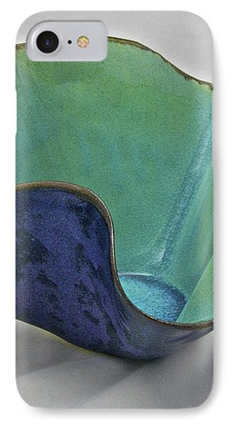 IPhone Case featuring the sculpture Paper-thin Bowl  09-006 by Mario Perron