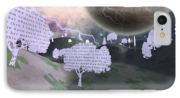 IPhone Case featuring the digital art Paper Trees by Bruce Rolff