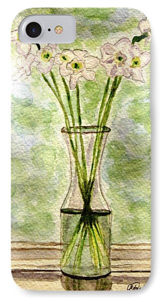 Paper Whites In Sunlight IPhone Case by Angela Davies