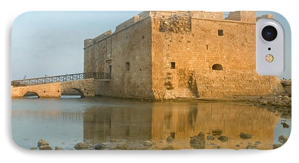 IPhone Case featuring the photograph Paphos Harbour Castle by Jeremy Voisey