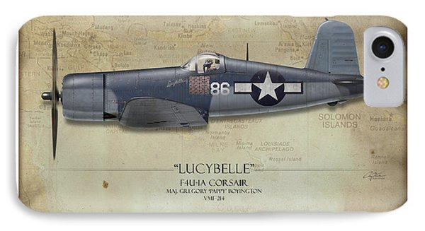 Pappy Boyington F4u Corsair - Map Background IPhone Case