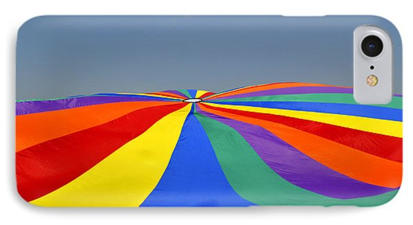 IPhone Case featuring the photograph Parachute Of Many Colors by Verana Stark