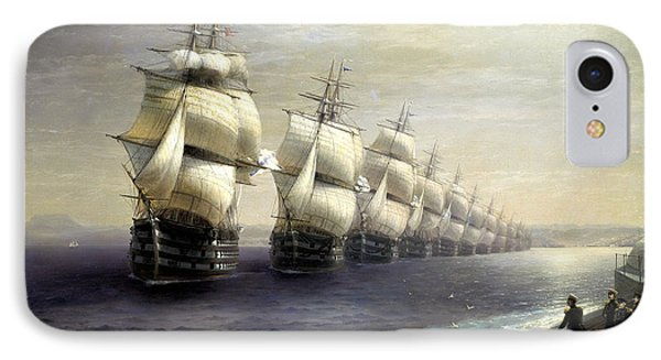 Parade Of The Black Sea Fleet In 1849 IPhone Case