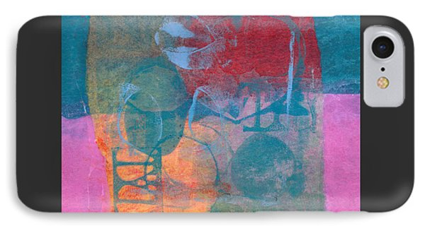 IPhone Case featuring the mixed media Paradise Gardens by Catherine Redmayne