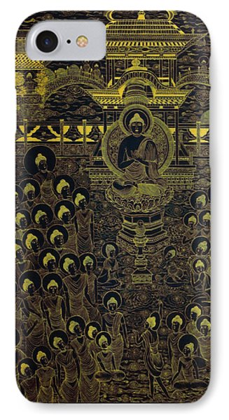 Paradise Of Holy Sakyamuni IPhone Case by Fei A