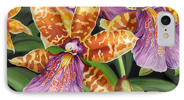 IPhone Case featuring the painting Paradise Orchid by Jane Girardot
