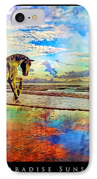 Paradise Sunset IPhone Case by Betsy Knapp