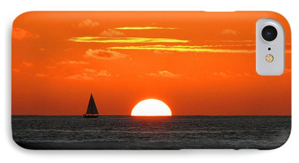 Paradise Sunset Sail IPhone Case by Kristine Merc