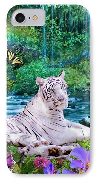 Paradise Tiger IPhone Case by Alixandra Mullins