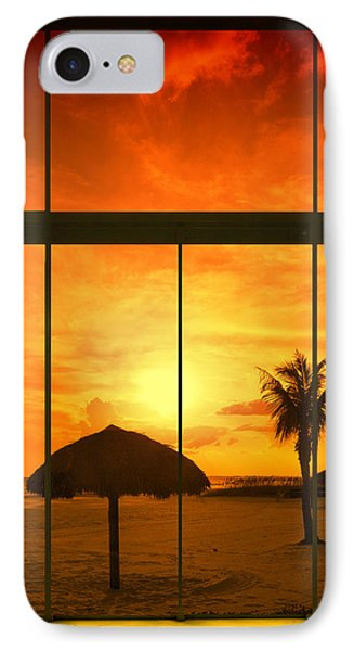 Paradise View I IPhone Case by Melanie Viola
